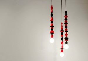 Modern-Interior-Lighting-Design-Pile-Up-Hanging-Lamps-590x410